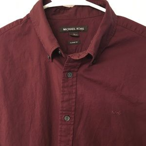 Michael Kors shirt. Worn once. Large classic fit